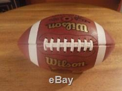2008 Pittsburgh Panthers Pitt / Navy Jeu D'occasion Football Signé Dave Wannstedt Rare