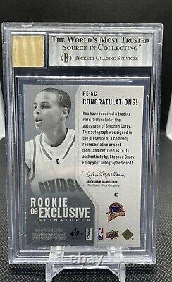 2009-10 Sp Jeu Utilisé Rookie Exclusifs Stephen Curry Auto Rc / 100 Bgs 8.5 / 9