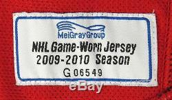 2009 Alex Ovechkin Jeu Utilisé Maillot Signé Washington Capitals Avec Meigray Coa