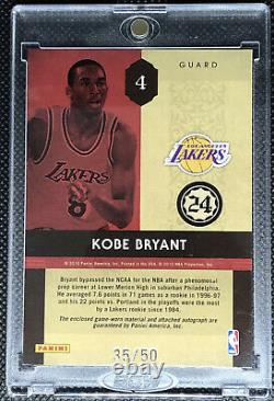 2009 Rookie Timeless Treasure Kobe Bryant Jeu D'occasion Jersey On Card Autograph /50