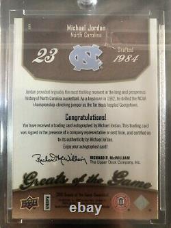 2010 Michael Jordan Sur Card Greats Of The Game Auto