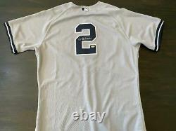 2011 Derek Jeter Ny Yankees Jeu Utilisé Et Signé Baseball Jersey Steiner Mlb Cert