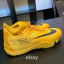 2015-16 Paul George Jeu Utilisé Signé Nike Hyperlive Shoes Sneakers Beckett Coa