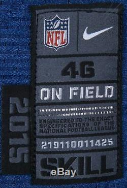 2015 Andrew Chance Jeu Indianapolis Colts Occasion Et Signé Accueil Jersey Photo Assorti