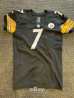 2015 Ben Roethlisberger Steelers Jeu Jersey Utilisé Signé Michael Vick Loa