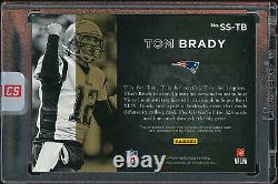 2015 Black Gold Football Tom Brady Patriots #ss-tb Jeu Utilisé Patch Auto /5