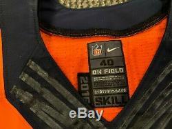 2016 Aqib Talib Denver Broncos Jeu Utilisé Signé Jersey Aucune Zone De Volée Sb 50 Champs