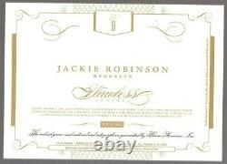 2016 Flawless Cut Autograph Jackie Robinson Jeu Utilisé Jsy Patch Auto (1/1)