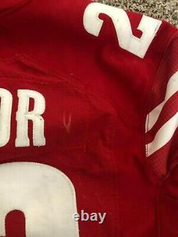 2018 Jonathan Taylor Signed Game Used Wisconsin Badgers Jersey Colts Photomatch