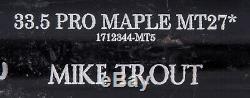 2018 Mike Trout Jeu Occasion Et Signé Old Hickory Mt27 Modèle Bat Psa Adn Gu 9,5