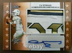 2020 Feuille All American Cj Stroud (buckeyes Qb) Jeu D'occasion Patch 5/5