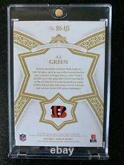 2020 Flawless Star Swatch Signatures Aj Green Game Worn NFL Shield Logo Auto 1/1