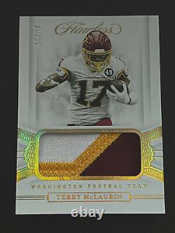 2020 Flawless Terry Mclaurin Game Worn Used Patch! 25 Ans! C'est Parti! Peaux Rouges