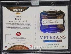 2020 Sans Faille Booklet Game Jersey Gold Patch Auto #d /10 Jerry Rice Immaculée