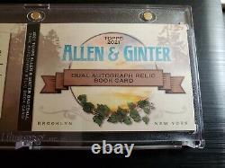 2021 Allen & Ginter Cody Bellinger/corey Seager Double Jeu Utilisé Auto Book/10
