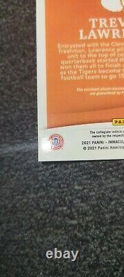 2021 Immaculé Trevor Lawrence Rookie Patch Auto /10 Cotton Bowl Jeu Mvp Utilisé