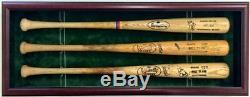 4 Vitrines De Batte De Baseball Avec Battes Signées Autographiées Et Utilisées Par Le Jeu Mlb