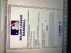 5/8/2016 Jeu De Base-ball Utilisé Par Les Cubs Et Signé Par Javier Baez 1re Promenade De Hr Mlb Holo