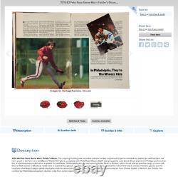 80s Pete Rose Signé Jeu Publié Rare Monde Win Mizuno Pro-modèle Gant Utilisation Légère