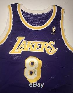 96-97 Kobe Bryant Jeu Utilisé Maillot La Lakers Rookie Signé Mears / Miedema / Jsa Loa