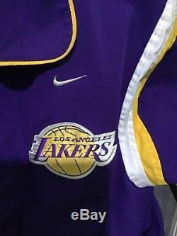 97-98 Veste De Réchauffement Autographiée Nba La Lakers Say Game Used Kobe Bryant