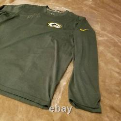 Adams A Dédicacé Signé Davante Green Bay Packers Jeu Utilisé Nike Dri Fit Chemise
