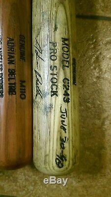 Adrian Beltre Career Homerun # 1 Jeu Utilisé Bat. Signé Et Inscrit Le 30 Juin 1998