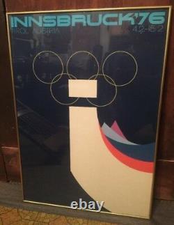 Affiche Vintage Originale Jeux Olympiques D'hiver Innsbruck 1976