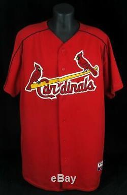 Albert Pujols 2001 Roy Signé Jeu D'occasion St. Louis Cardinals Jersey Psa Adn Coa