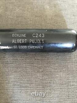 Albert Pujols H & B Jeu D'occasion Bat 2002 Auto Signé Rookie Cardinals Inscrits Pff