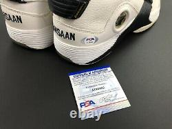 Allen Iverson Jeu Usé Signé Signé 2001-02 Reebok Réponse 5 Rashaan Shoes Psa