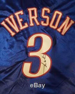 Allen Iverson Philadelphia 76ers # 3 2004/2005 Signé Jeu Jeu Worn Utilisé Jersey