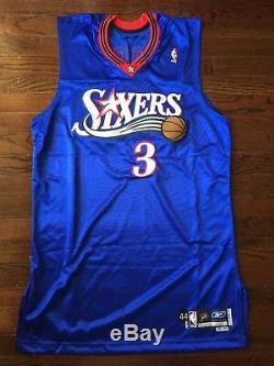 Allen Iverson Philadelphia 76ers # 3 2005/2006 Jeu Signé Jeu Porté Jersey Utilisé