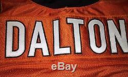 Andy Dalton Cincinnati Bengals Jeu Utilisé Worn Rookie Jersey Photo Match Signé