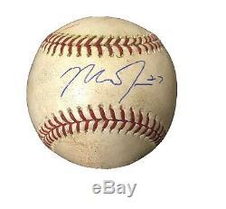 Anges Superstar Truite Mike Autographié / Jeu Signé Utilisé Baseball Signature Rare
