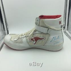 Années 1980, Clyde Drexler, Jeu Signé, Chaussures De Baskets Usagées, Paire, Avec, Coa, Adn Coa