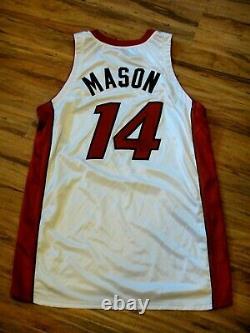 Anthony Mason Jeu Usé Us Used Signé 2000-2001 Miami Heat Jersey Beckett Cert