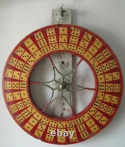 Antique Carnival 2 Sided Wheel Wooden Dice Jeu De Société Aafa
