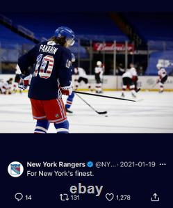 Artemi Panarin Porté Rangers De New York Autographié Et Pré-match Maillot Usé 1/1