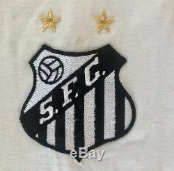 Au Début Des Années 1970 Pelé Match Worn / Jeu Occasion / Signé Santos Jersey Loa / Aoc