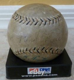 Babe Ruth 1934 Visite Du Japon Signé Baseball Psa / Dna Gehrig Foxx Jeu Utilisé