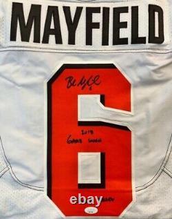 Baker Mayfield Jeu Autographié Utilisé Rookie Jersey