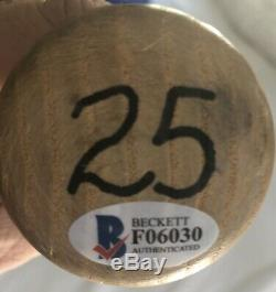 Barry Bonds Signé Jeu Utilisé Bat 1993-1997 Psa Gu 9 Giants