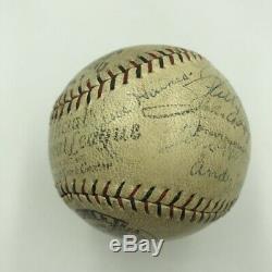 Belle Série 1930 De La Série Mondiale Des Cardinals De St. Louis Avec Équipe De Baseball Signée