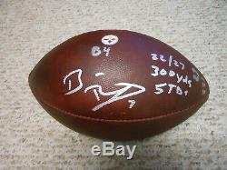 Ben Roethlisberger Auto Signed Le Jeu NFL A Utilisé Le Football 10/2/16 Steelers Avec 3 Insc