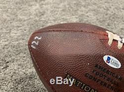 Ben Roethlisberger Pittsburgh Steelers Jeu Utilisé Signe Football 18.09.16 Avec Coa