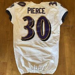 Bernard Pierce A Signé Jeu Autographié Utilisé / Porté Ravens Jersey 2013
