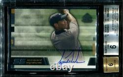 Bgs 9 Gem Mint Auto 2003 Sp Jeu Utilisé Scorecard Tiger Woods #tw8 Signatures Pga