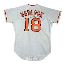 Bill Madlock 1977 Signé San Francisco Giants Jeu Utilisé Worn Maillot Route Loa