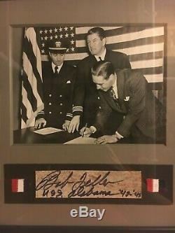 Bob Feller 1941 1 Original Vintage Ww2 Marine Photo Jeu Signed D'autos D'occasion
